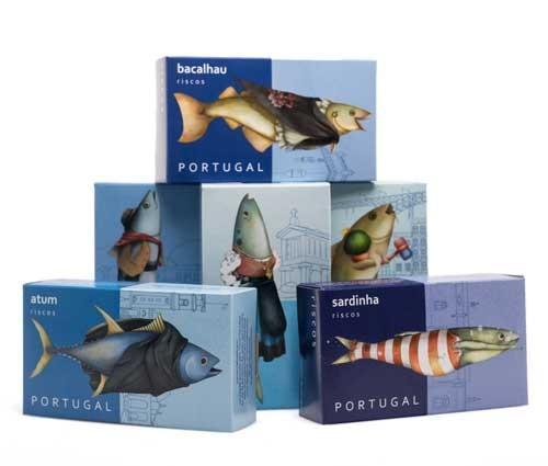Conservas de pescado. Conserva de bacalao con ajo, bacalao con garbanzo, sardinas con especias, atún con especias, caballa