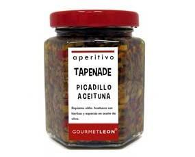 Tapenade picadillo aceituna. Riquísimo aliño de aceitunas muy picaditas con hierbas aromáticas y especies