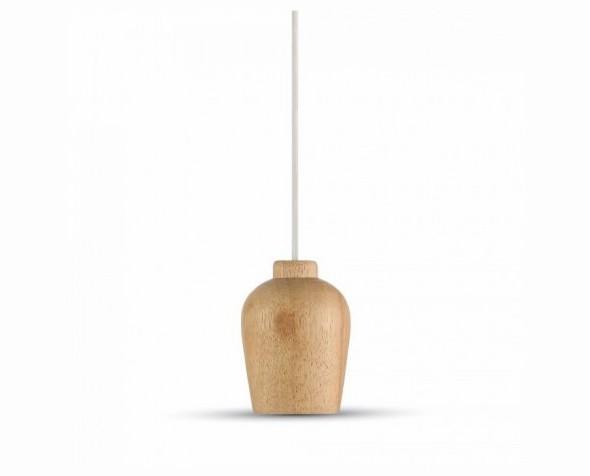 Lámpara colgante de madera. Compatible con bombillas A60/67, ST 64, bombillas globo
