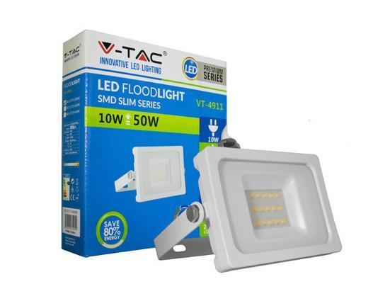Foco led. 10w ultrafino ip65 blanco
