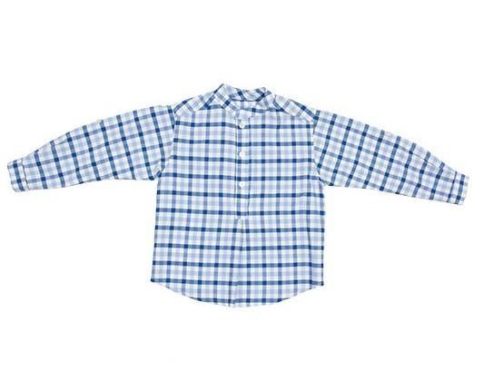 Camisas para niños. Camisas campestre. Tira en el interior de la manga para manga corta.