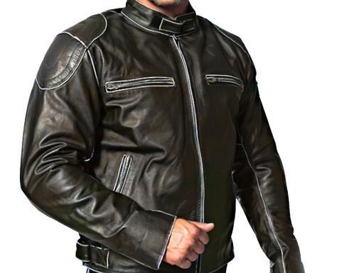Productos de Cuero.Protectores distintivo CE en hombros y codos
