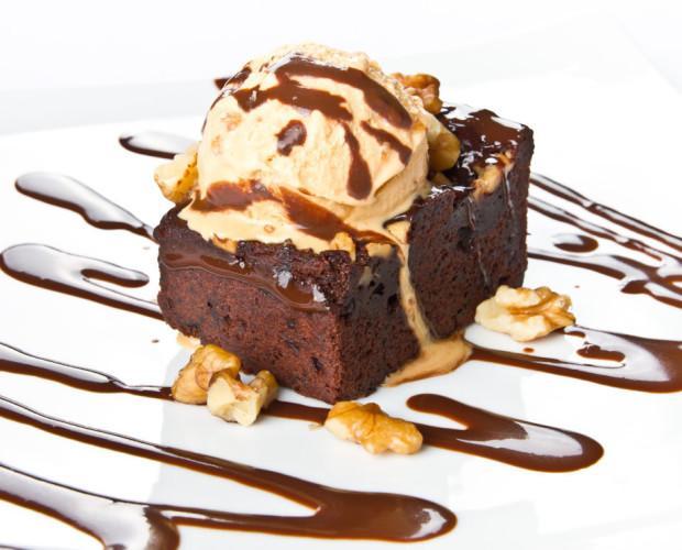 Tarta de brownie. Siempre presente