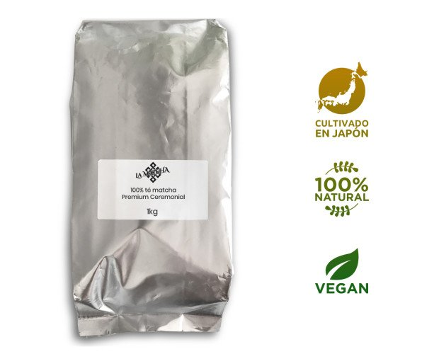 Té LaMatcha-1kg-02. Bolsa de 1 kilo del té matcha premium ceremonial. La Matcha. Cultivado en Japón