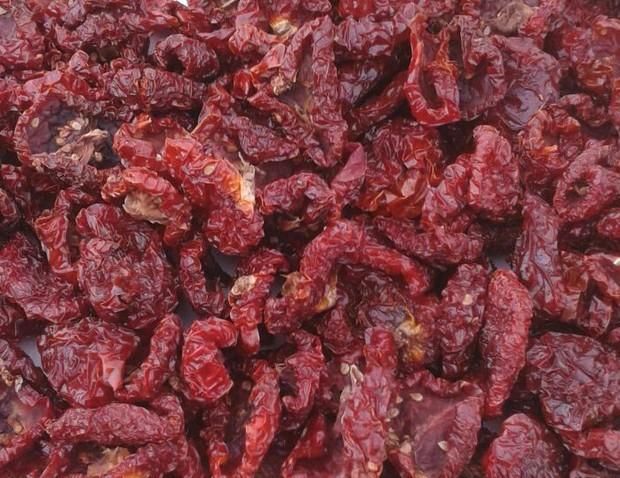 Tomates.Tomate seco elaborado al sol de Sierra Nevada