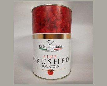 Conservas de Vegetales. Tomate Natural Triturado. Lata de 4,05 kg.