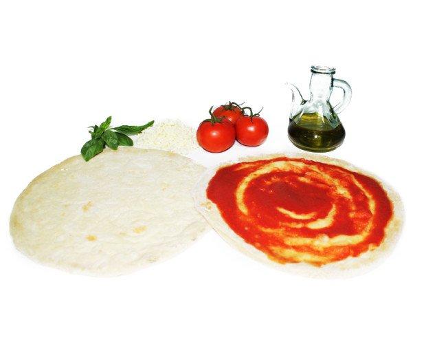 Bases para pizzas. Elaborada con los mejores productos