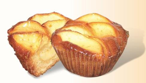 Bollería. Besitos de manzana y crema