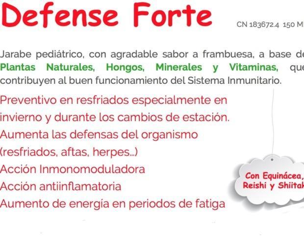 Defense Forte. Jarabe de 150 ml con sabor a Frambuesa