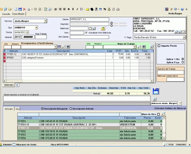 Mantenimiento de almacenes. Software de gestión para almacenes