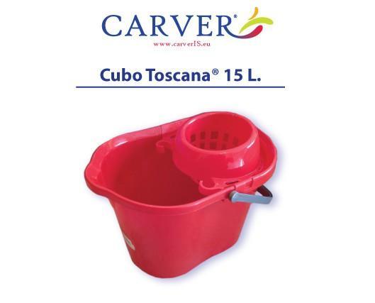 Cubo Toscana. Plástico virgen brillante, de alta resistencia