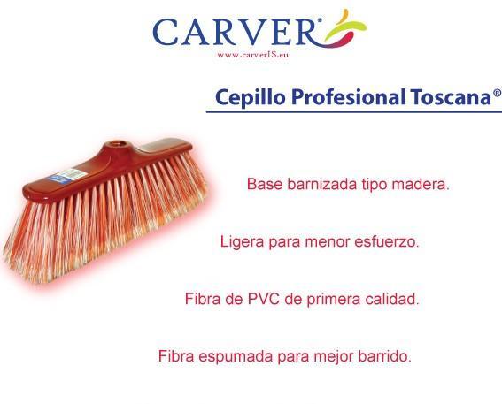 Cepillo Pro. 130 g. de fibra Mango de acero reforzado