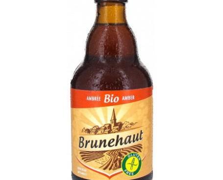 Brunehaut Ambree. Es una cerveza belga color ambarino y sin gluten