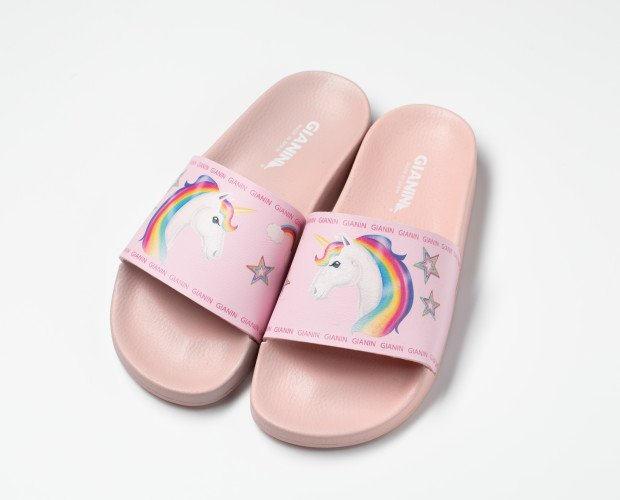 Sandalias Unicornio. Chancla marca Gianin, diseño unicornio, Muchos más