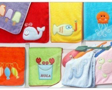 Toallas para bebés. Varios modelos y diseños
