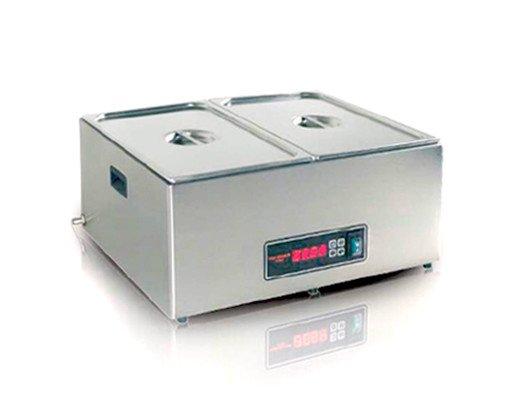 Cocedor sous vide. El cocedor sous vide es una máquina para cocinar a baja temperatura, especialmente diseñada para la cocción al vacío