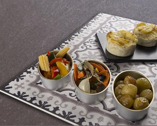 Guarnición VACinBAG. Verduras, cebollas y gratinados de patata VACinBAG