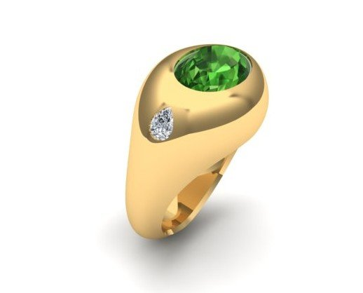 Ring tourmaline. Muy elegante
