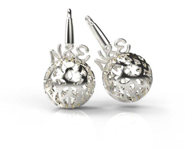 Pendientes lujosos. Diseño de joyas 3D de calidad e innovación