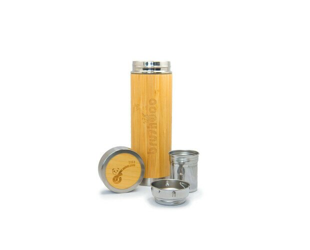 TERMO BOTELLA BRUSHBOO. Botella Brushboo tiene un exterior único, está hecha de 100% bambú orgánico.
