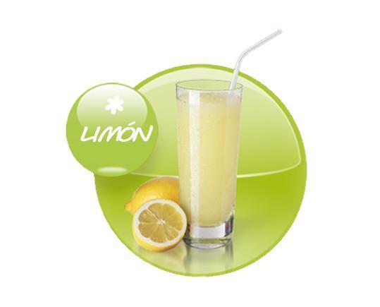 Granizado de limón. Granizado con zumo de limón 100% natural sin conservantes