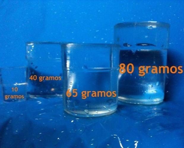 Variedad de hielo. Diversos formatos de hielo