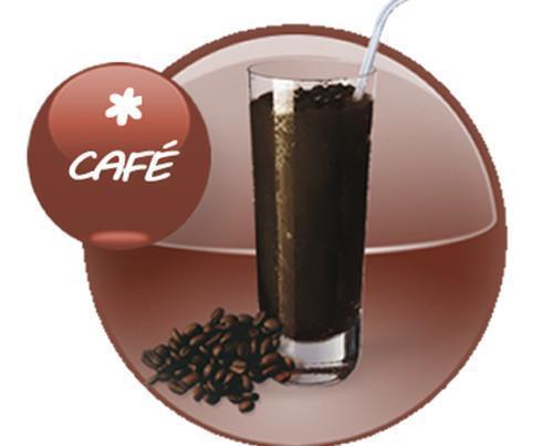 Granizado de café. Granizado realizado con café de Colombia de primeras marcas