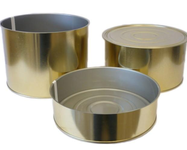 Latas.Tenemos latas de metal de múltiples tamaños