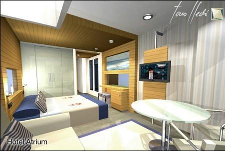 Interiorismo para hotel. Diseño interior de habitación de hotel