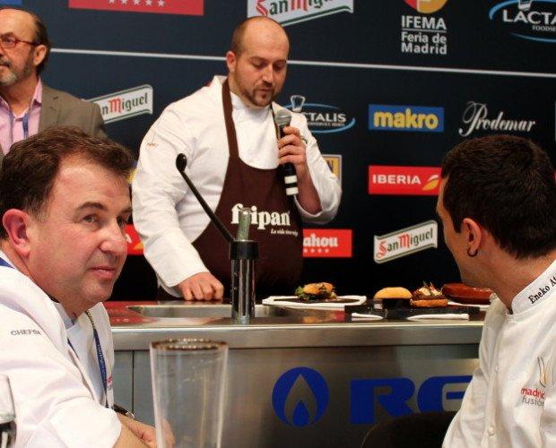 MADRID FUSIÓN 2014. Momento en el que el Chef Juan Casamayor ha sido proclamado con el primer premio al mejor bocadilo de autor.