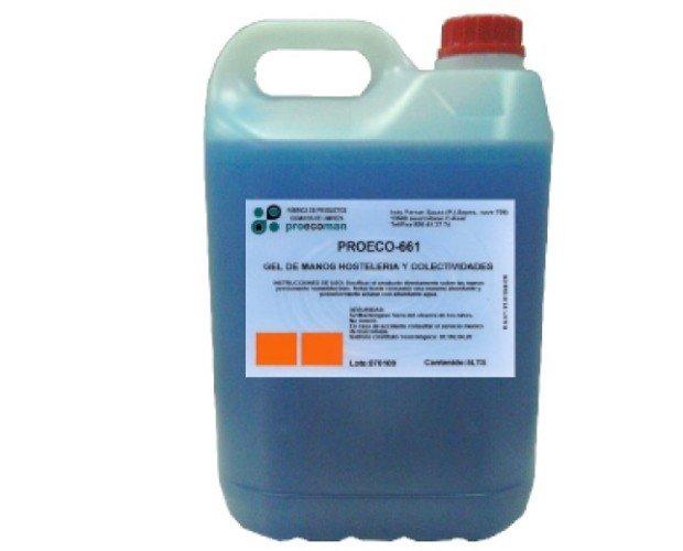 Geles de Manos.Es un líquido viscoso de color azul muy soluble en agua tanto fría como caliente