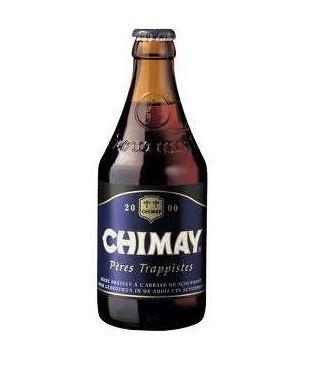 Cerveza Chimay Azul. Cerveza belga en botella