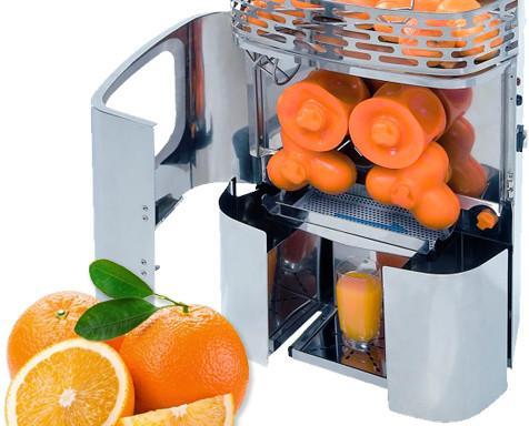 Extractores de Zumos.Funcionamiento automático de alimentación manual con cesta de capacidad 15kg.