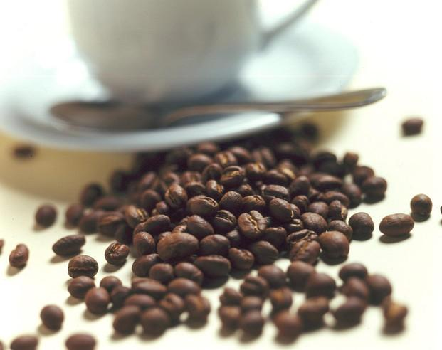Café tostado. Café tostado en el punto justo