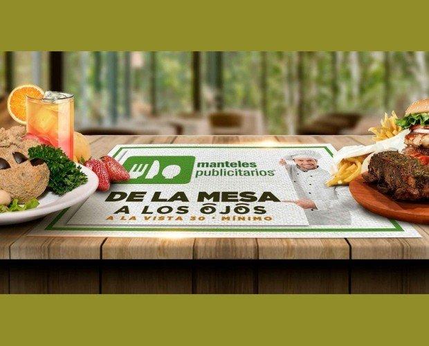 Manteles Publicitarios Mi mensaje de la. Manteles de papel individuales de restaurante con publicidad