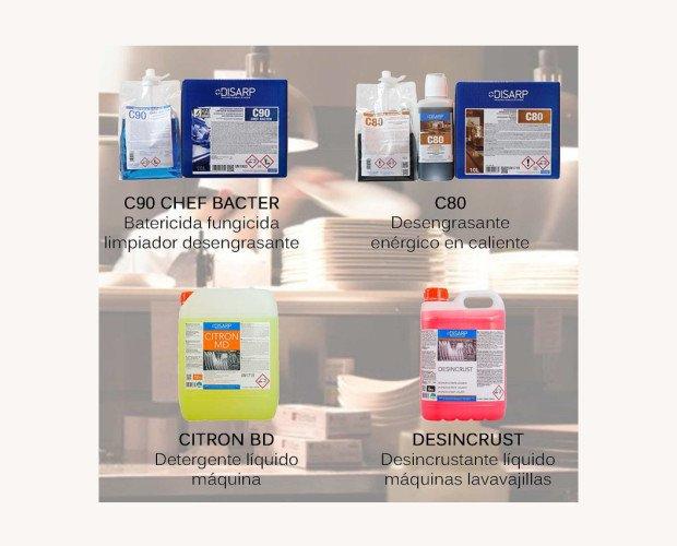 CHEF Bacter. Bactericida fungicida limpiador desengrasante