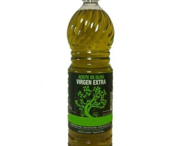 aceite de oliva virgen extra. botella de aceite de oliva virgen extra