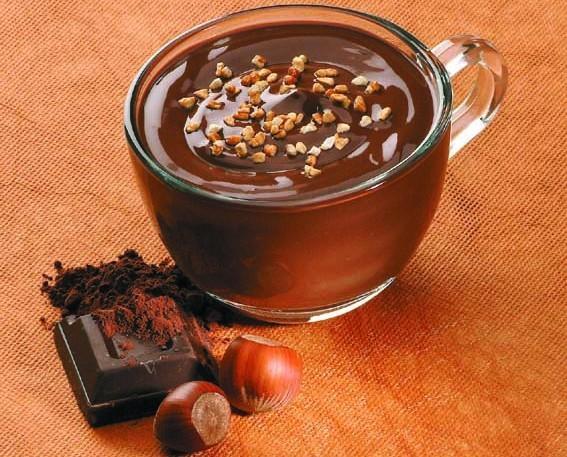Chocolate a la Taza.El mejor chocolate con escamas de avellana.