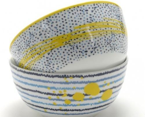 Caja con bols. De porcelana