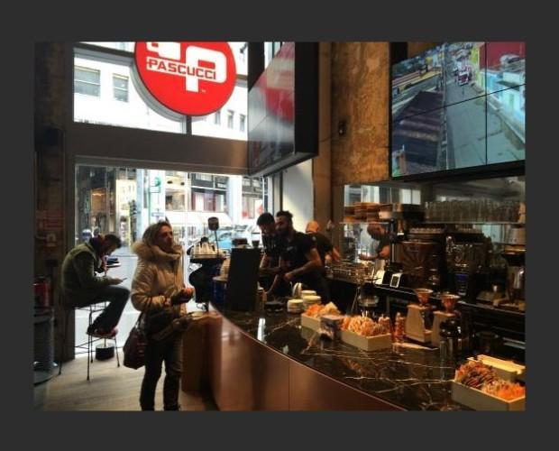 Cafe Pascucci Milan. Nuestras mismas cafeterías con nuestro mismo café