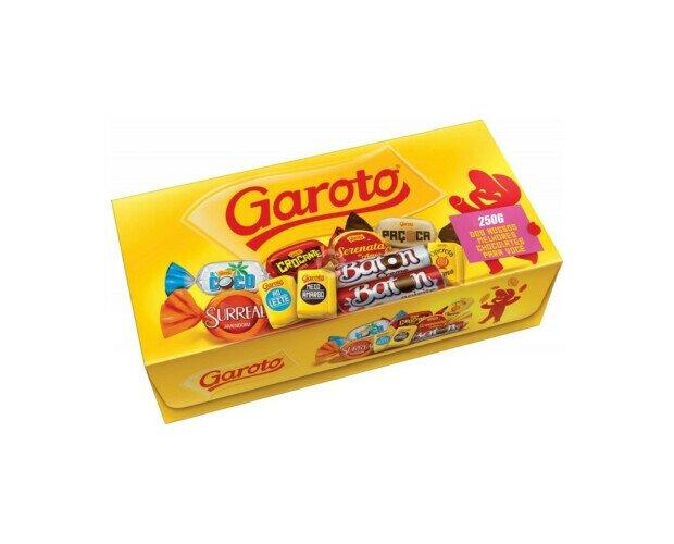 Bombones Garoto. Caja de bombones y chocolates surditos