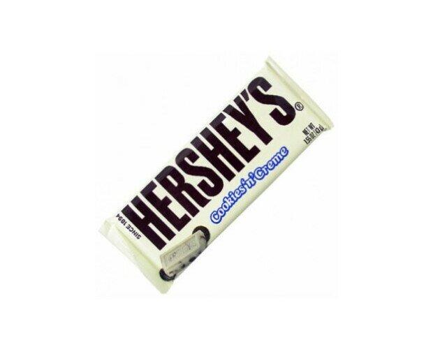 Hershey Cookies and Creme. Chocolate importado de la mejor calidad mundial