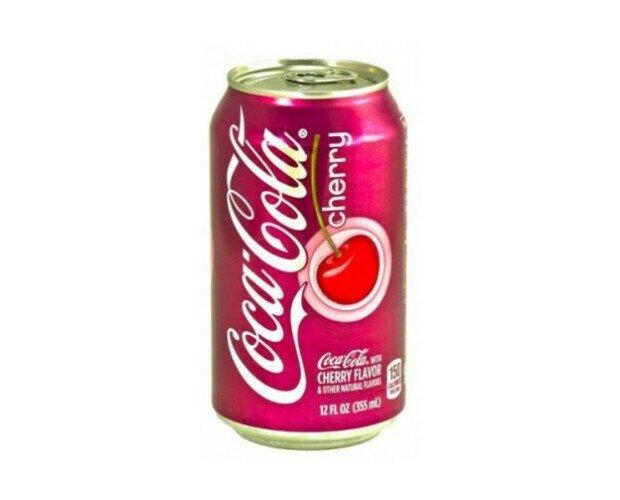 Coca Cola Cherry. Deliciosa típica americana Coca Cola de Cereza para refrescarte