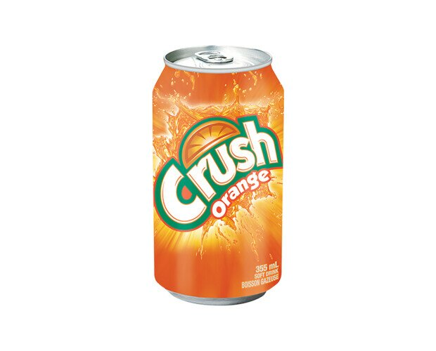 Crush Orange. Refresco sabor a naranja en presentación de lata