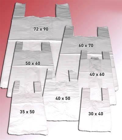 Bolsas de polietilieno. Bolsas en material reutilizable
