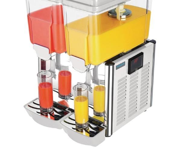 Dispensador de bebidas frías. Capacidad 24 litros. Color gris.