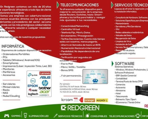 Servicios y productos. Informática, telecomunicaciones, software