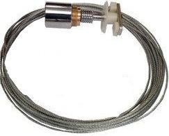 Cable suspendido. Conectores superior a carril electrificado, positico o negativo