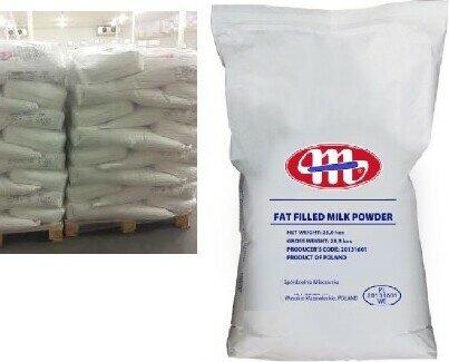 Leche en Polvo.Oferta de leche entera en polvo y leche desnatada en polvo (milk powder). Sacos 25kg