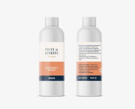 Desodorante polvo de alumbre. Desodorante para pie. Protección 24h